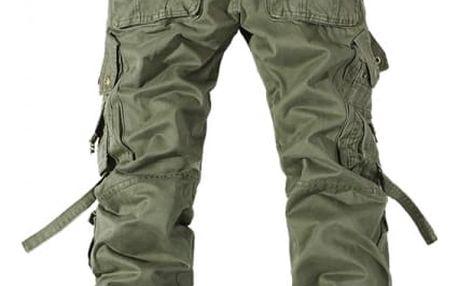 Pánské kalhoty s kapsami - Zelená - velikost 11