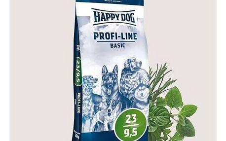 Granule HAPPY DOG Profi-Line BASIC 23/9,5 20 kg + Doprava zdarma