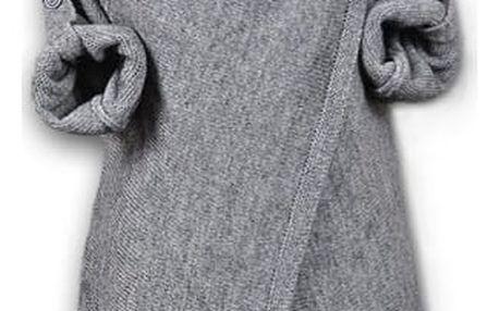 Moderní svetr pro dámy se zapínáním na knoflík - varianta 1 - velikost č. 6