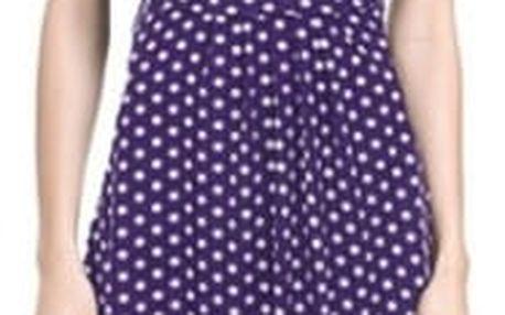 Dámské jednobarevné šaty - fialová a bílá, vel. 3