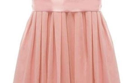Dámské letní šaty s krajkovým topem - Růžová - velikost č. 6
