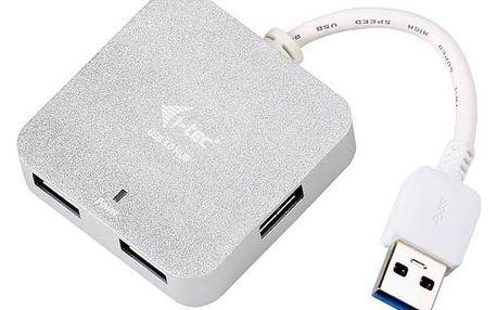 USB Hub i-tec USB 3.0 4port, pasivní (U3HUBMETAL402) + Doprava zdarma
