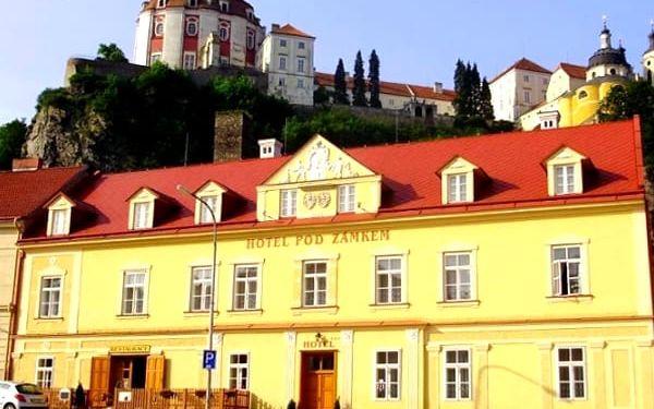 3 nebo 4denní relaxační pobyt v hotelu Pod Zámkem s polopenzí ve Vranově nad Dyjí pro dvě osoby.