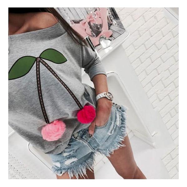 Dámské tričko s třešněmi Cherry