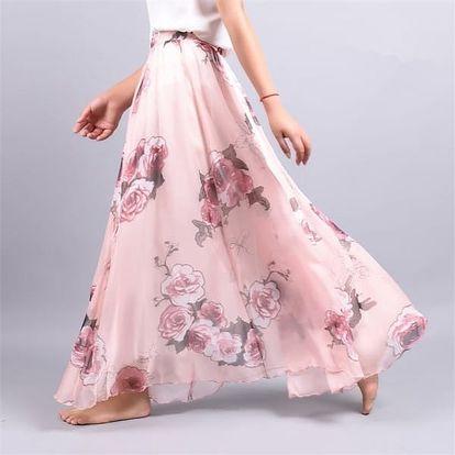 Lehoučká a vzdušná letní sukně - Varianta 3 - Délka sukně 90 cm