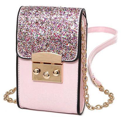 Mini třpytivá kabelka - Růžová 1 - dodání do 2 dnů