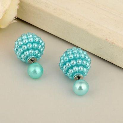 Oboustranné náušnice poseté perličkami - dodání do 2 dnů