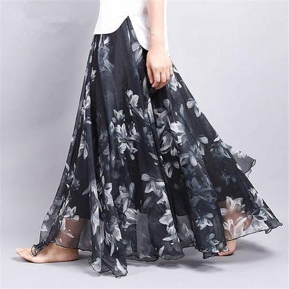 Lehoučká a vzdušná letní sukně - Varianta 7 - Délka sukně 90 cm