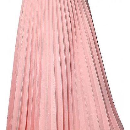 Dámská sukně s elastickým pasem - růžová