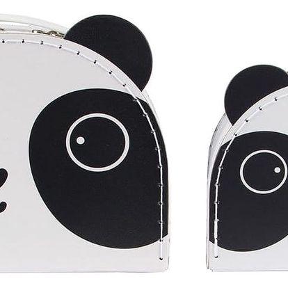 sass & belle Kufřík Panda - 2 velikosti Menší, černá barva, bílá barva, papír