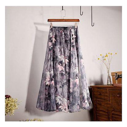 Lehoučká a vzdušná letní sukně - Varianta 5 - Délka sukně 90 cm
