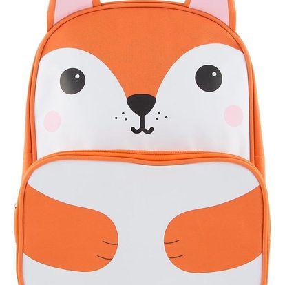 sass & belle Dětský batoh Fox, oranžová barva, bílá barva, textil