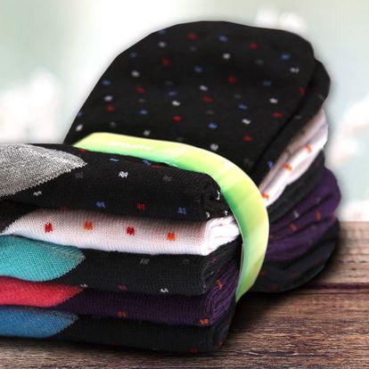 Dámské bambusové ponožky s puntíky