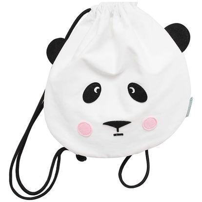EEF lillemor Dětský vak na záda Panda, bílá barva, textil