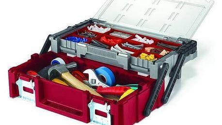 Kufřík na nářadí Keter 17182593 černý/šedý/červený + Doprava zdarma