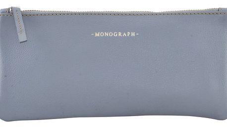 MONOGRAPH Kožené pouzdro Greyblue, modrá barva, šedá barva, kůže