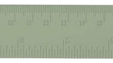 Bloomingville Kovové pravítko Mint, zelená barva, kov