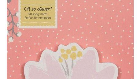 Busy B Lepítka Flower, růžová barva, papír