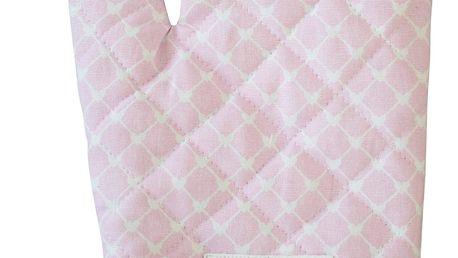 Krasilnikoff Chňapka Hearts pink diagonal, růžová barva, textil