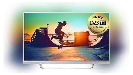 Televize Philips 49PUS6482/12 stříbrná + cashback 3 000 Kč + Doprava zdarma