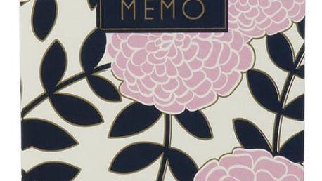 TRI-COASTAL DESIGN Blok na poznámky Adrienne, růžová barva, modrá barva, papír
