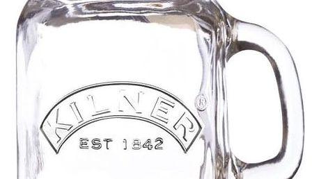 KILNER Mini sklenička s uchem a víčkem 140 ml, čirá barva, sklo
