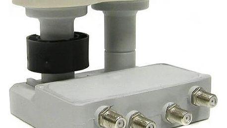 LNB Mascom Monoblock Quad MCM4QS01HD Gold 4.3°