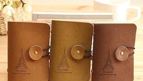 Pouzdro na vizitky nebo platební karty s motivem Eiffelovky