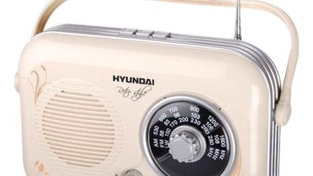 Radiopřijímač Hyundai Retro PR 100B krémové