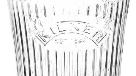 KILNER Vroubkovaná zavařovací sklenice 500 ml, čirá barva, sklo