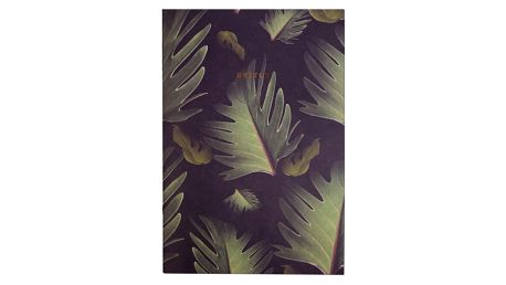 Ohh Deer Nelinkovaný sešit Dark Palm, zelená barva, papír