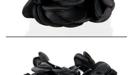 Fashion Icon Skřipec do vlasů kytka textilní růže
