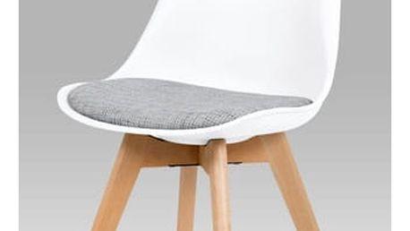 Jídelní židle bílá plastová CT-722 WT2 Autronic