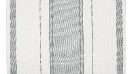 IB LAURSEN Kuchyňská utěrka Mynte Grey, šedá barva, bílá barva, textil