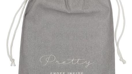 Bloomingville Pytlík na boty Pretty shoes, šedá barva, textil