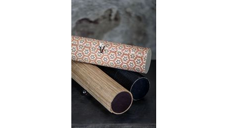 IB LAURSEN Bambusové pouzdro na tužky Mix Vzor, oranžová barva, béžová barva, černá barva, dřevo, dřevotříska
