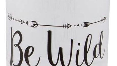 sass & belle Plastová lahev na vodu Be wild 450 ml, černá barva, čirá barva, plast