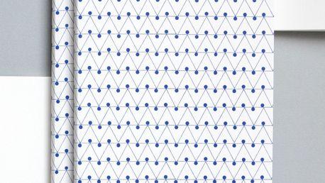 ola Notes v šité vazbě Blue Dash A5 - 128 stran, modrá barva, papír