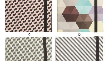 House Doctor Poznámkový notes Geometric Typ A, multi barva, papír