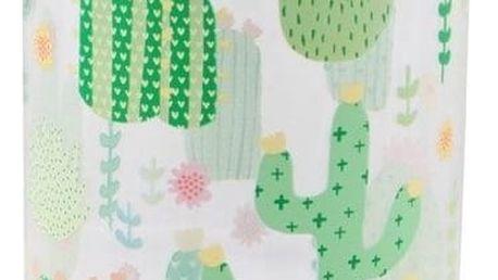 sass & belle Plastová lahev na vodu Cactus 450 ml, zelená barva, čirá barva, plast
