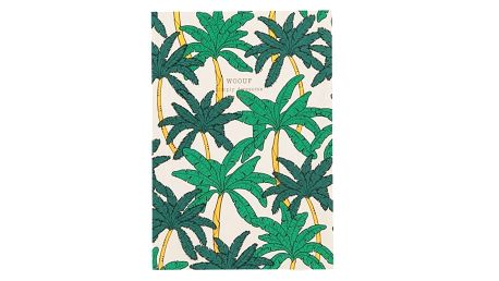 Woouf! Notes Palms A5, zelená barva, papír
