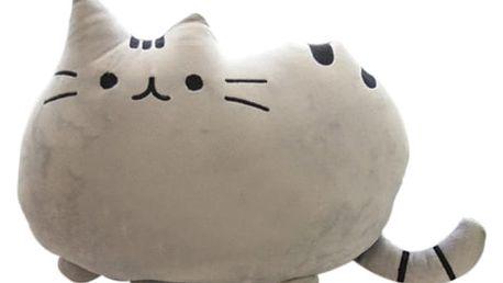 3D povlak v podobě kočičky - šedá