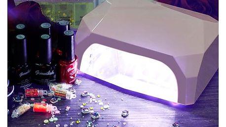 UV lampa pro vytvrzování nehtů - růžová