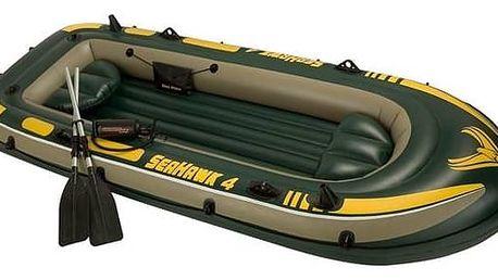 Člun nafukovací Intex SEAHAWK 4 SET, vesla + pumpa