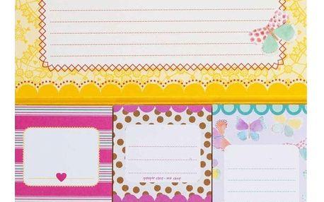 rice Sada lepítek v papírové složce Not to forget, růžová barva, žlutá barva, oranžová barva, multi barva, papír