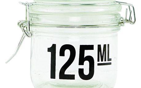 house doctor Skleněná dózička s víčkem 125 ml, čirá barva, sklo