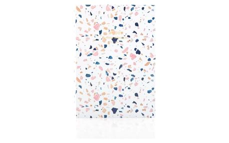 Woouf! Notýsek White Terrazzo A6, bílá barva, multi barva, papír