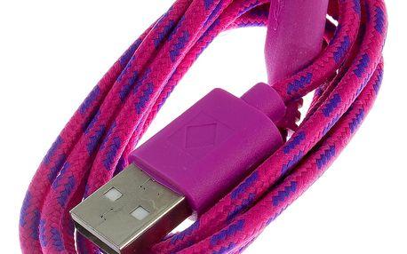 Datový kabel tkanička USB 2.0 a micro USB pro přístroje Android
