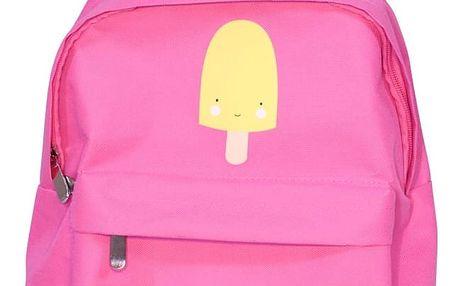 A Little Lovely Company Dětský batůžek Ice Cream, růžová barva, textil