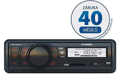 Autorádio s SD slotem Hyundai CMRX 4802 SU černé